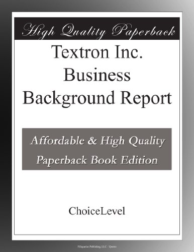 textron-inc-business-background-report
