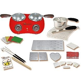Deluxe Chocolatiere-Dual Electric Chocolate Melting Pot (Red)