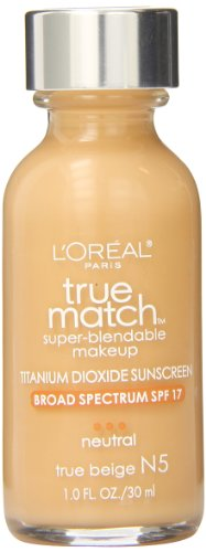 L'Oreal Paris True Match Super Blendable Makeup, True Beige, 1.0 Ounces