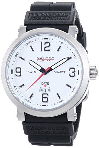 Nautec No Limit Speed SE QZ3/RBBKSTSTWH - Reloj para hombres, correa de goma color negro