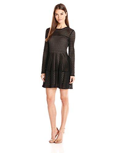 Bcbgmax Azria Womens Kyla A Line Lace City Dress Black X Small