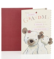 Bear & Bird Grandma Birthday Card