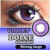 ドルチェ ( DOLCE ) ストロングラージ 1箱2枚入 1ヶ月交換 DIA14.5mm 度なし バイオレット ランキングお取り寄せ
