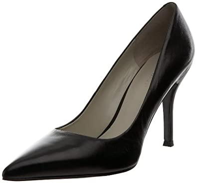 Nine West Women's Flax Pump,Black2 Leather,5 M US