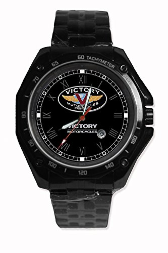 Victory Motocycle Logo Sport Watch Custom Image Design Black Alloy