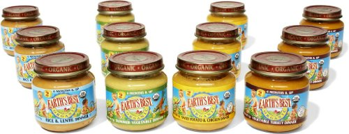 Earth'S Best Organic 2Nd Dinner Variety Pack, 4 Ounce Jars (Pack Of 12)