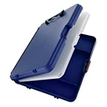 Saunders WorkMate II Plastic Storage Clipboard, Letter Size 8.5 x 12 Inches, Blue with Maroon Hinges (00475)