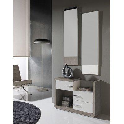3-tlg. Garderoben-Set Farbe: Eco / Weiß