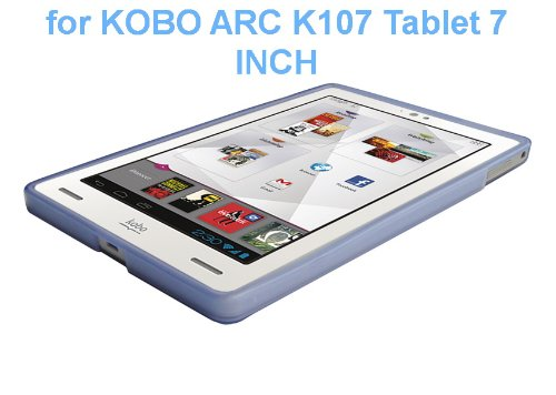 """Kobo Arc 7"""" eReader Tablet TPU Rubberized Protective Cover Case - Blue from Electronic-Readers.com"""