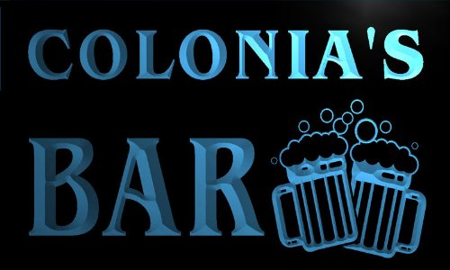 w141939-b-colonia-name-home-bar-pub-beer-mugs-cheers-neon-light-sign