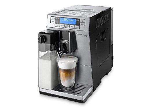 DeLonghi ETAM36365M PrimaDonna XS DeLuxe Super Fully Automatic Espresso and Coffee Machine with Auto Cappuccino System, Silver (silver-black) (12 Volt Expresso Maker compare prices)