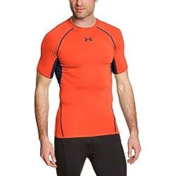Under Armour Hg - Camiseta de compresión para hombre, color naranja, talla M