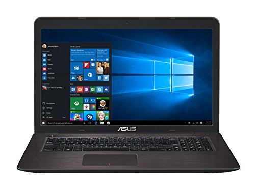 "Asus X756UX-T4104T Notebook da 17.3"" Full HD, Intel i7-6500U, RAM 8 GB, HDD 1 TB, nVidia GTX 950M, 2 GB"