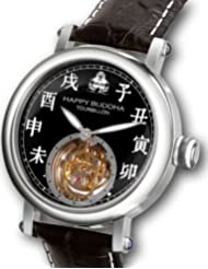 Happy Buddha Tourbillon with White Characters on Onyx Dial Limited Edition Watch