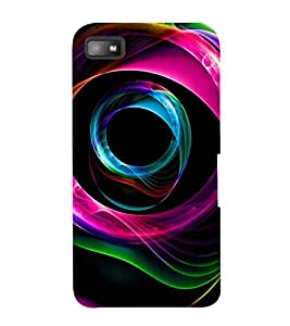 FLUIDIC ROTATING COLOUR PATTERN 3D Hard Polycarbonate Designer Back Case Cover for Blackberry Z10