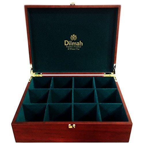 dilmah-luxury-wooden-presenter-tea-chest-gourmet-12-slot-holds-120-tea-bags-tea-bags-sold-seperately