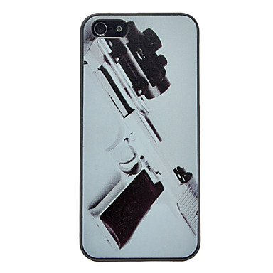 Pistol With Telescope Pattern Anti-Scratch Matte Pc Hard Case For Iphone 5/5S