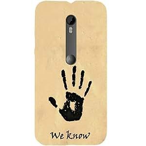 Casotec We Know Design Hard Back Case Cover for Motorola Moto G 3rd Generation