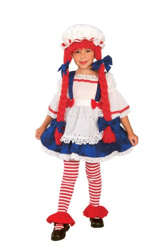 Toddler Rag Doll Girl Costume Size 2-4T