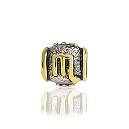 Bling Jewelry Gold Vermeil 925 Sterling Scorpio Zodiac Bead Pandora Compatible