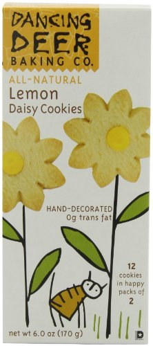 Dancing Deer Baking Co. Shortbread Cookies, Lemon Daisy, 6-Ounce Box, (Pack of 6)