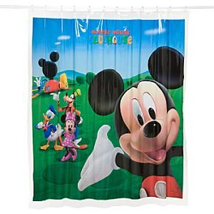 Laura Ashley Shower Curtains Mickey Mouse Clubhouse Bat