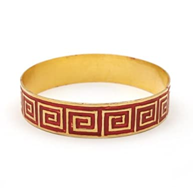 Red Key Pattern Bracelet by Sibilia||RF10F