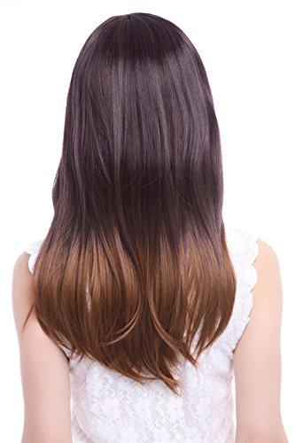 L Email 21 65inch Fashion Long Straight Hair Wig Black