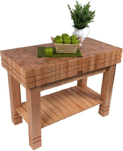 John Boos & Co. Grooved Block Kitchen Work Table - GRVBLOCK