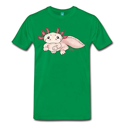 Spreadshirt Herren Axenia Axolotl T-Shirt, kelly green, S