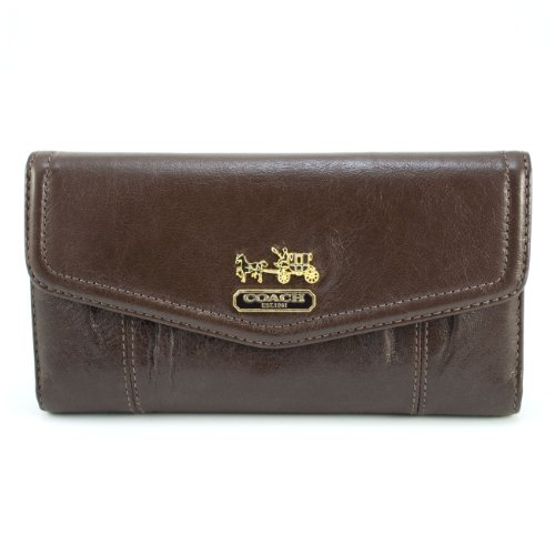 Coach 44378 Women's Madison Leather Checkbook Wallet