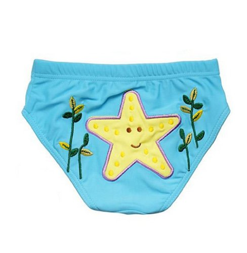 Lovely Starfish Baby Infant Teal Swim Diapers/ Swim Brief, M Size front-1048806