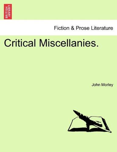 Critical Miscellanies.