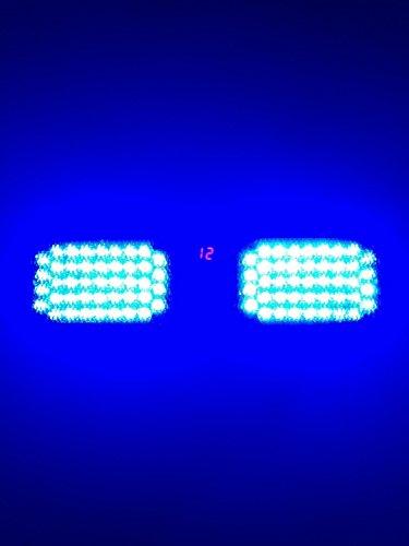 Tinypony High Power Emergency Super Bright 86 Led Strobe Visor Blue Light