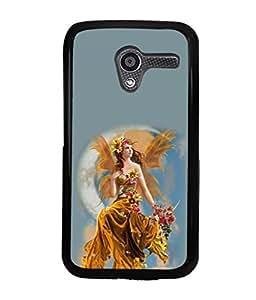 printtech Beautiful Fantasy Girl Back Case Cover for Motorola Moto X XT1058::Motorola Moto X (1st Gen)