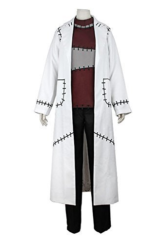 [Sidnor Soul Eater Professor Franken Stein Cosplay Costume Outfit Doctor Lab Coat Jacket by Sidnor] (Soul Eater Dr Stein Costume)