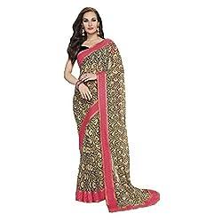 radhika sarees chiffon saree with unstiched blouse 5555_black