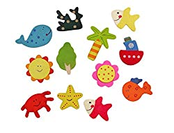 Gifts Online Cute Nature Theme Fridge Magnet (Set Of 12)