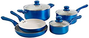 Oster 92465.08 Thorben 8-Piece Cookware Set, Multi-Size, Blue