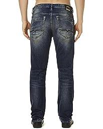 Buffalo David Bitton Men\'s King Slim Boot Cut Denim Jean, Used/Dirty, 30 32