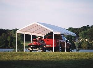ShelterLogic 12 x 26- Feet Canopy 2- Inch 5-Rib Frame, White Cover by ShelterLogic