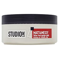 LOreal Studio Line 4 Matt & Messy Shine Free Sponge Putty Roughed up Natural Look Up 150 ml With Free Ayur Soap