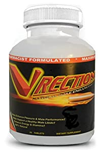 VRECTION Natural Male Enhancement Supplement, 20 Tablets(3 BOTTLES) by MARINANATURALS