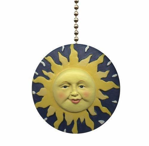 Tropical Blazing Sun Ray Rays TiKi Ceiling Fan Light Pull