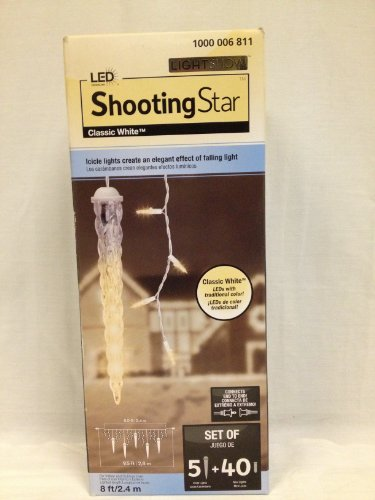 Gemmy Light Show Shooting Star Classic White 5 Light Set