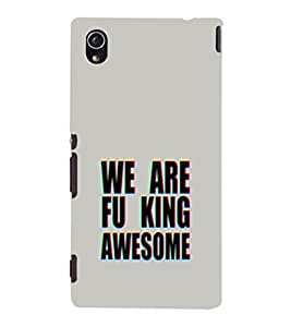 EPICCASE We are Fu_king Awesome Mobile Back Case Cover For Sony Xperia M4 Aqua Dual (Designer Case)