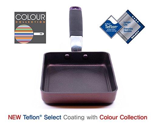 TeChef - Tamagoyaki Japanese Omelette Pan / Egg Pan, Coated with Dupont Teflon Select - Colour Collection / Non-stick Coating (PFOA Free)
