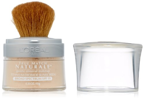 L'Oreal Paris discount duty free L'Oreal Paris True Match Naturale Mineral Foundation, Light Ivory, 0.35 Ounces