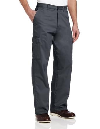 Dickies Men's Loose Fit Cargo Work Pant, Charcoal, 42x30