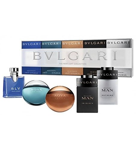 Bvlgari Men Miniature Collection Confezione Regalo 5 x 5ml BLV Pour Homme EDT + 5ml Aqva Pour Homme EDT + 5ml Aqva Amara EDT + 5ml Man In Black EDP + 5ml Man Extreme EDT